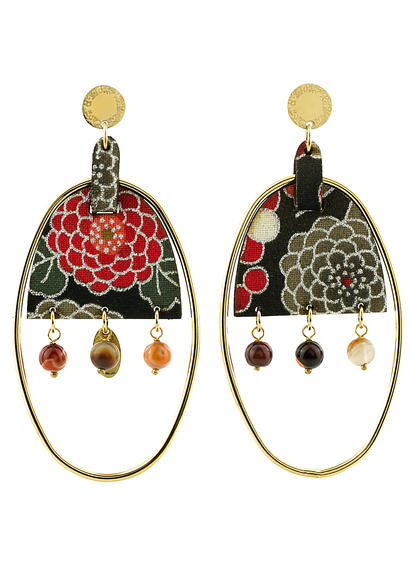 earrings-enso-oval-large-smoked-brown-silk