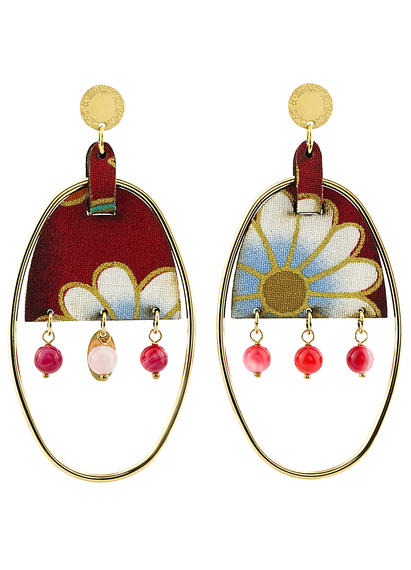 earrings-enso-oval-large-smoked-red-silk