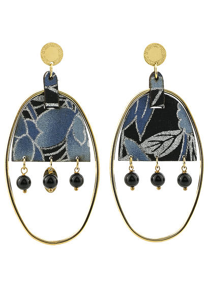 earrings-enso-oval-large-smoked-black-silk