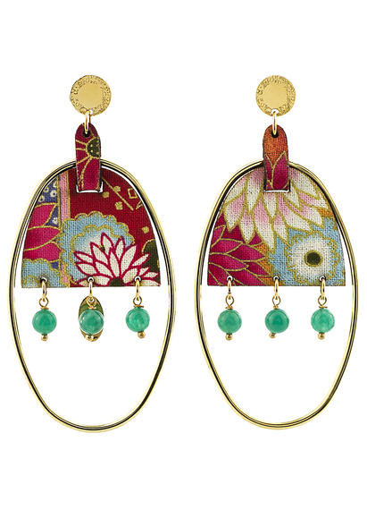 earrings-enso-oval-large-smoked-green-silk