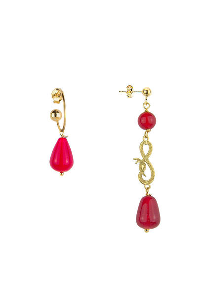 mini-snake-eight-and-bell-drop-ruby-earrings